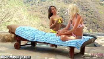 Beautiful Skylar Green helps cast sexy shy Ashlyn Molloy by giving her sex tips as she gets down...
