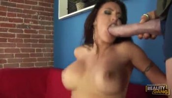 Slutty amateur passenger fucked and facialed by fake driver