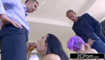 Bailey sucked and swallowed all the cum out of his dick